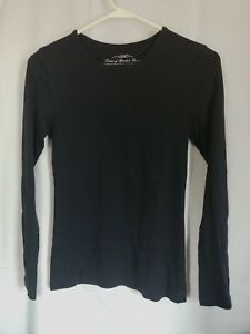 4120677c39753 H M Women s Long Sleeve Top Black Tee - LOGG Label of Graded Goods ...