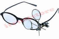 Clip On Magnifying Loupe For Glasses Eye Glass Eyeloupe Jeweler Lens Magnifier