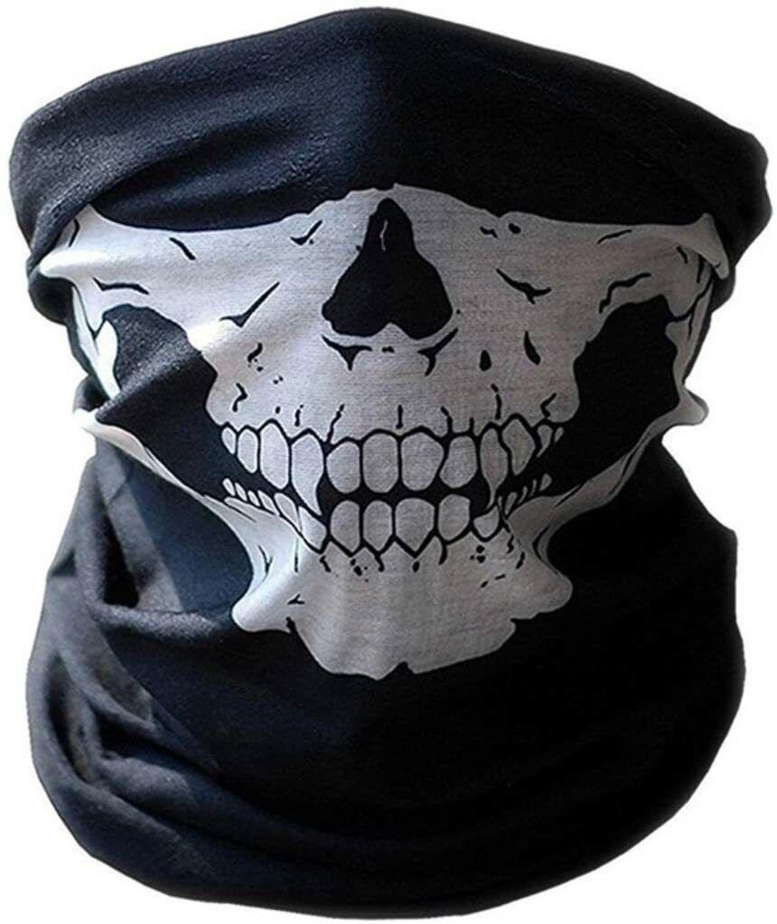 Scarf Multifunction Tour Of Neck Mask Death's Head Skull Moto Bike Bandana