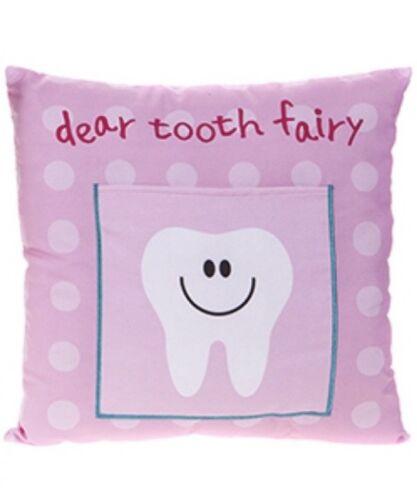 30 cm x 30 cm garçons filles fée des dents Coussin Enfants Argent Note Lettre Poche