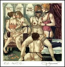 David Bekker 2014 Exlibris C4 Erotic Erotik Nude Sex Nudo Woman 995