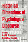 Historical Dimensions of Psychological Discourse by Cambridge University Press (Paperback, 2006)