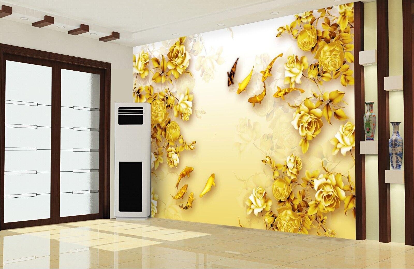 3D Goldenes Laub 577 Tapete Tapeten Mauer Foto Familie Tapete Wandgemälde Summer