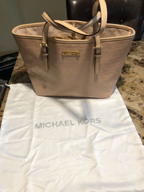 michael kors hamilton large ew tote bisque pebbled leather satchel rh ebay com