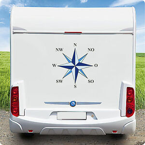 Details Zu Aufkleber Wohnmobil Wohnwagen Kfz Windrose Kompass Maritim Caravan Boot 50 Cm