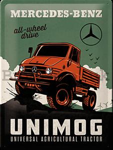 Mercedes-Benz-Todo-Rueda-Conducir-Unimog-Relieve-Acero-Signo-400mm-x-300mm-Na