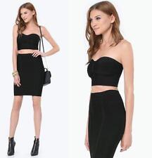 BEBE BLACK 2 PIECE DRUSILA BANDAGE DRESS NWT NEW $139 XSMALL XS