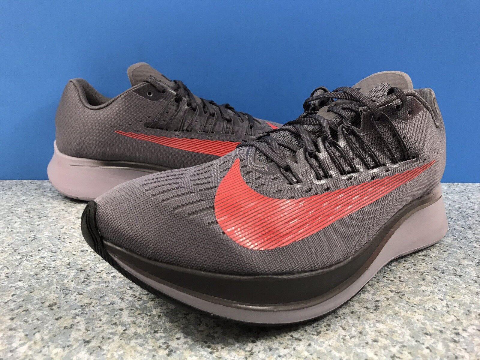 Nike Zoom Fly 880848-004 Men Running shoes Sz 13 Gunsmoke Bright Crimson
