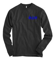 Phi Delta Theta Bella + Canvas Black Long Sleeve T Shirt Delt Letters