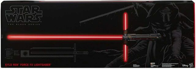 Kylo Ren FX Lightsaber Star Wars The Black Series Force Deluxe With Stand