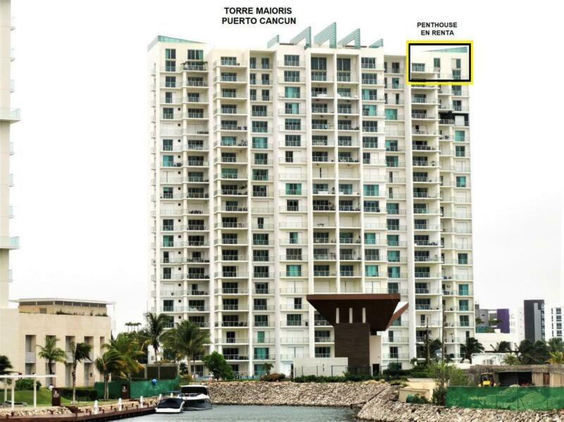 Espectacular Penthouse en Renta AMUEBLADO de 3 Recámaras en Torre Maioris, Puerto Cancún