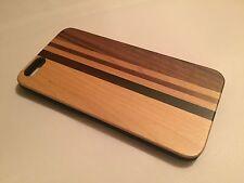 Apple Iphone 6 plus cover case hard back real sandal wood wooden solid oak brown