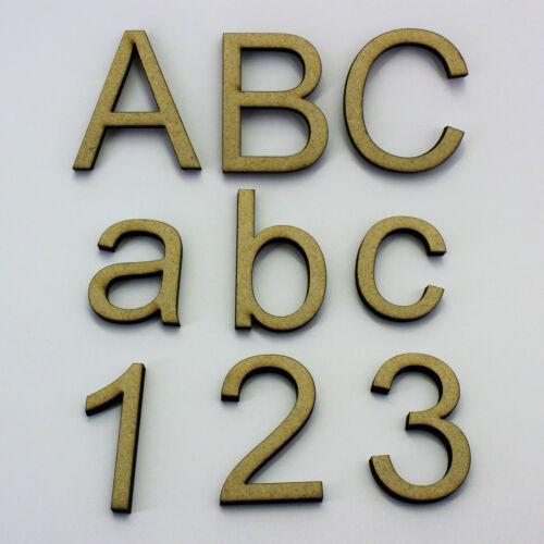 hauteurs de POLICE: 40mm et plus 2 mm mdf bois lettres /& numéros 100mm 60mm 80mm