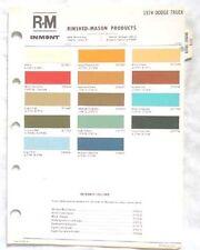 Item 4 1974 Dodge Truck R M Color Paint Chip Chart Mopar Original