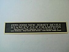 N.J. Devils 1999-2000 Stanley Cup Nameplate For A Hockey Display Case 1.5X8