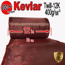 1 Ft x 100 FT - KEVLAR-CARBON FIBER ARAMID ~ Fabric-Twill Weave - 3K/2K-200g/m2