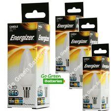4x Energizer E14 5.9 Watt Candle LED Bulb. 470 Lumens. Equivalent - 40W (Opal)