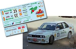 Decal-1-43-Fernando-Capdevila-BMW-M3-Rally-El-Corte-Ingles-1987