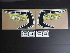 1981 YAMAHA YZ 80 GAS TANK AND SIDE PANEL DECALS AHRMA