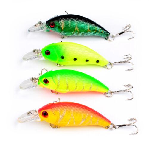 8PCS Sea Fishing Fish Bass Topwater Crankbait Crank Minnow lure hook baits 8g