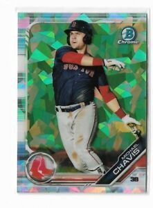 2019 Bowman chrome prospects atomic refractor parallel Michael Chavis