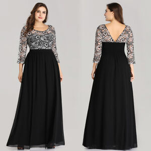 Details about Ever-Pretty Womans Plus Size V-neck Long Evening Dress Lace  Party Dresses 07688