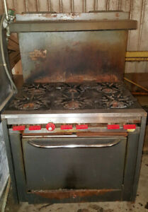 Details About Vulcan Commercial Restaurant Kitchen 6 Six Burner Stove Gas Range Standard Oven