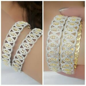 Lovely-Gold-Plated-Red-Gemstone-American-Diamond-Indian-Bangle-Bracelet-Indian