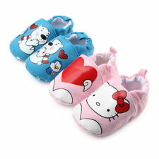 Baby Boys Girls Warm Winter Thick Button Hook-Loop Fastened Soft Sole Crib Shoes