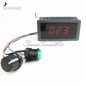 DC 6-30V 12V 24V Max 8A Motor PWM Speed Controller With Digital Display Switch F