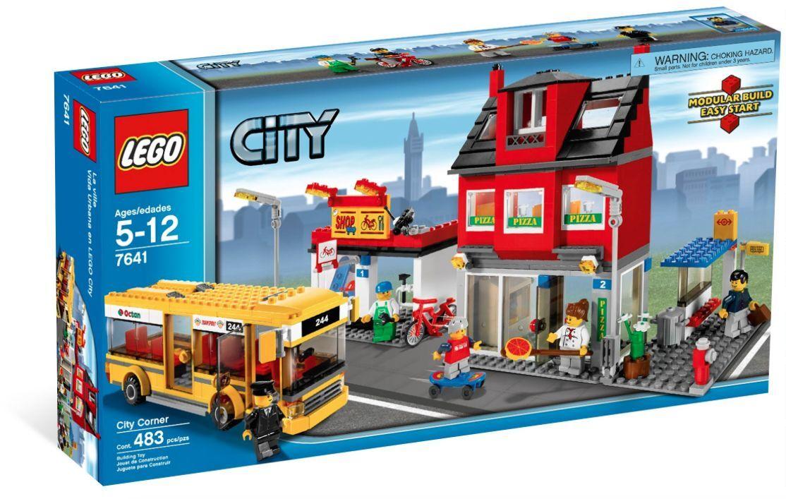 LEGO ® City 7641 quartiers avec bus Nouveau neuf dans sa boîte _ City corner NEW En parfait état, dans sa boîte scellée Boîte d'origine jamais ouverte