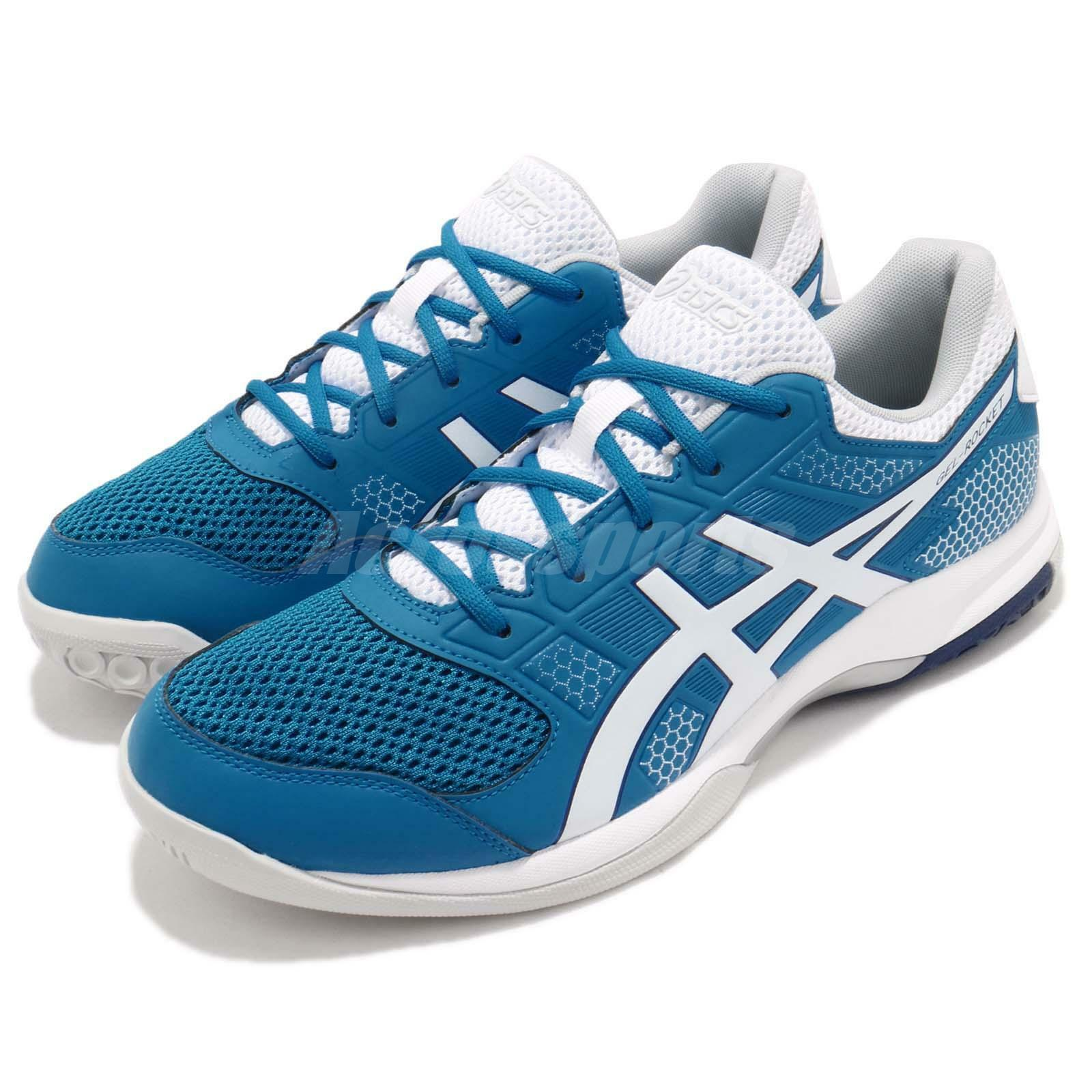 Asics Gel-Rocket 8 bluee White Men Volleyball Badminton shoes Sneakers B706-Y401