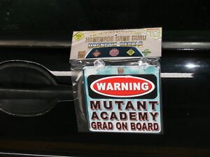 WARNING-MUTANT-ACADEMY-GRAD-ON-BOARD-Magnet-Suction-Cup-Car-Decal