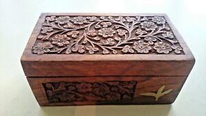 Wooden-Carved-Box-Delikat-Tea-Promoters-India-Original-Tea-Included