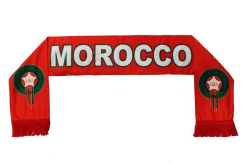 MOROCCO FRMF  Logo FIFA Soccer World Cup WARM THIN CRUSHED FLEECE SCARF
