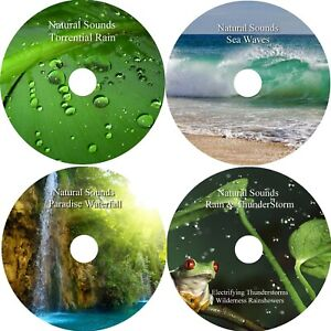 Natural-Sounds-4-CD-Relaxation-Deep-Sleep-Aid-Stress-Anxiety-Relief-Calming