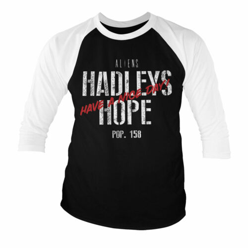 Officially Licensed Aliens Hadleys Hope 3//4 Sleeve Baseball T-Shirt S-XXL Sizes