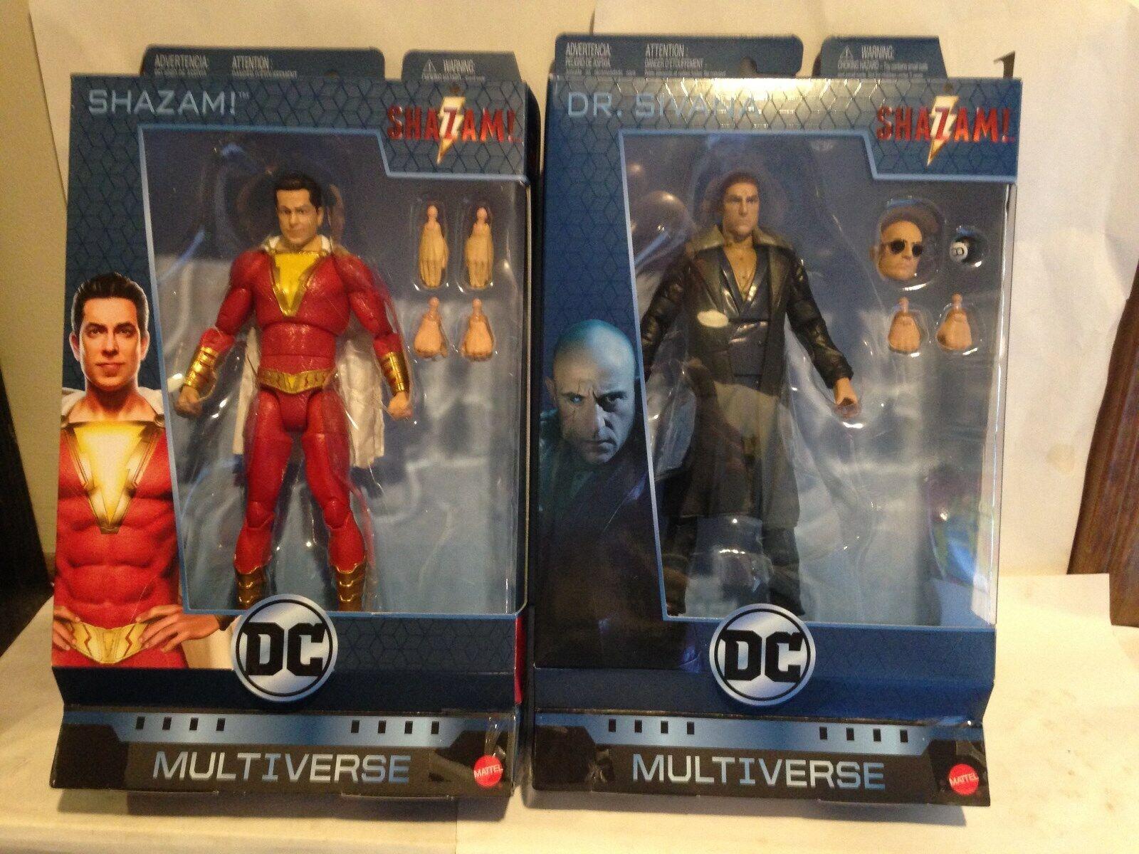 2019 DC Multiverse qué demonios y Dr. Sivana figuras de acción sin usar, en Caja Mattel Figuras Película