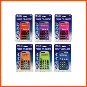 24 x 8 DIGIT DUAL POWER POCKET SIZE CALCULATOR | Basic Arithmetic Office School