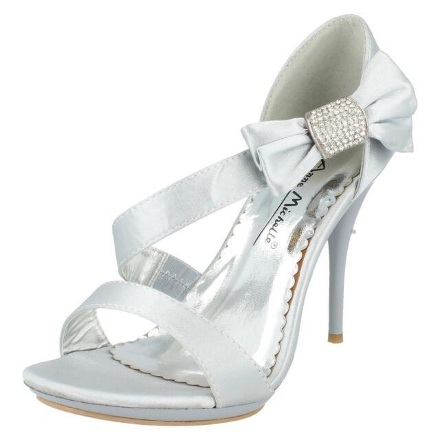 Anne Michelle Ladies Diamante Bow Detail Party Shoes
