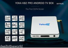 YOKA KB2 Pro Android 6.0 Octa Core Smart TV Box 3G/32G Bt Spina UK 4.0
