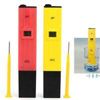 Red Digital pen type PH Meter Tester Pocket Aquarium Pool Water Wine Urine LCD