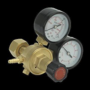 REG//MT Sealey MIG Gas Regulator 2 Gauge Industrial MIG Accessories