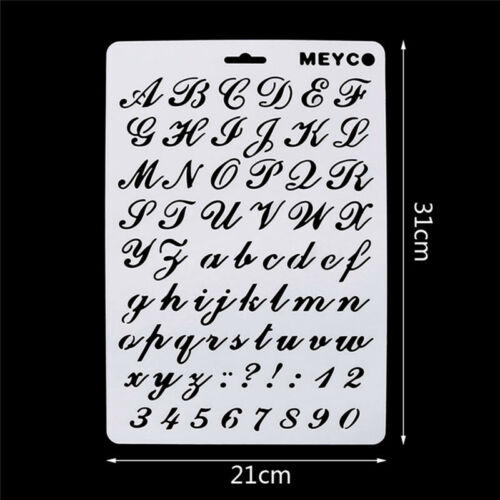2X Lettering Stencils, Letter and Number Stencil, Painting Paper Craft Q8M8