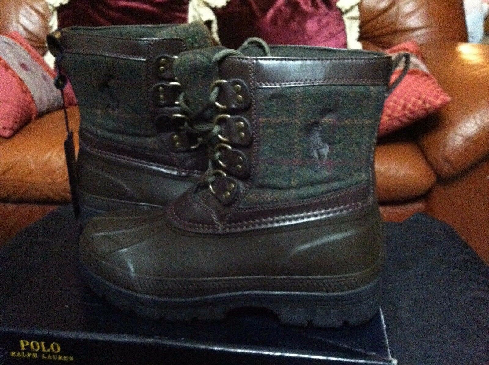 Polo Ralph Lauren Hombre Nuevo Marrón Textil   Goma botas Talla 7