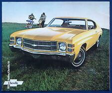 Prospekt brochure 1971 Chevrolet Chevy Chevelle Malibu (USA)