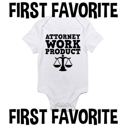 Attorney Work Project Baby Onesie Shirt Shower Gift Newborn Clothes Gerber