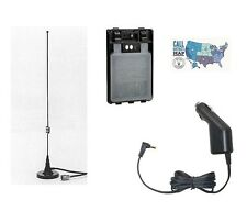 Yaesu FT-2DR Accessory Bundle w/ Mag-Mount Antenna, AA Bat. Case, & Cig Adapter!