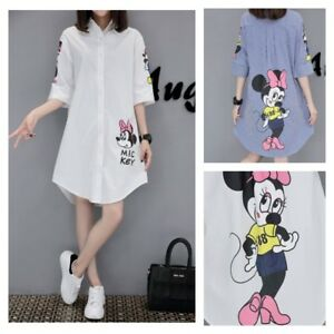 Details about MICKEY MINNIE MOUSE Disney Shirt Top Skirt Blouse Tunic DRESS  PLUS SIZE M-5XL