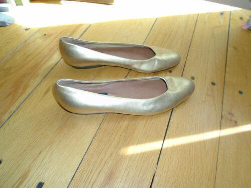Selby Gold Flats 9.5 AAA Never Worn